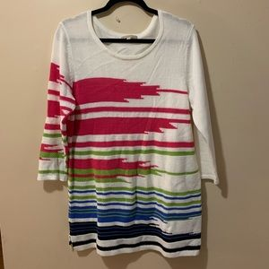 Women's large 3/4 sleeve sweater long length